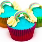 Rainbow Cupcakes Recipe – Perfect for a childrens party!