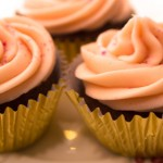 Easy Valentines Cupcake Recipe: Turkish Delight (Chocolate and rose flavour)
