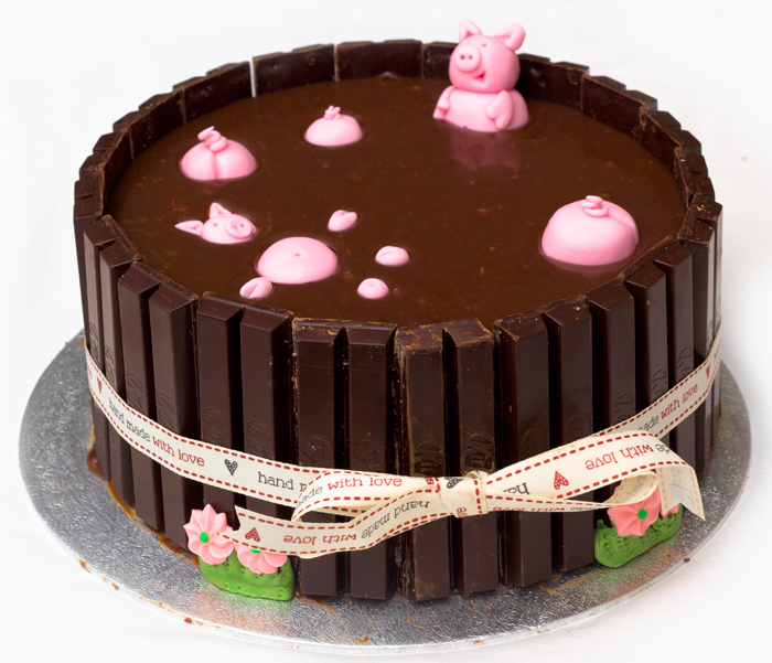 Pigs in mud cake mississippi mud cake recipe with kit kats pig cake full in blog 700 forumfinder Gallery