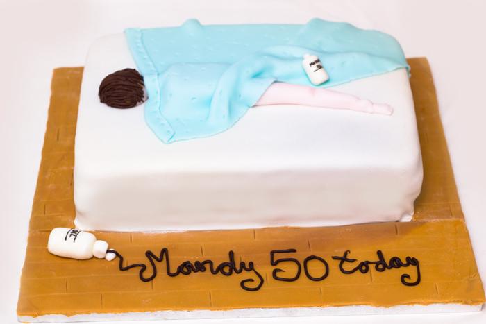 Birthday Cake Images And Massage : How to make a Massage Themed Birthday Cake - Sunday Baking