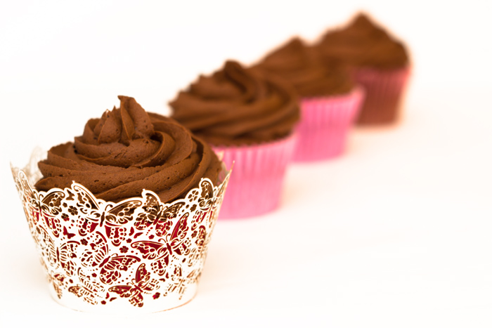 Rose Chocolate Cupcakes
