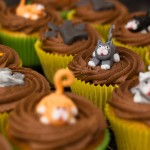 Cat themed cupcakes