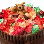 Squirrel themed Autumn Birthday Cake