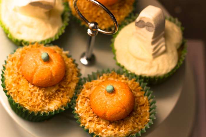 Halloween Toasted Coconut Cupcake Recipe - Pumpkin Patch