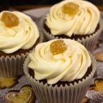 Vegan Sticky Gingerbread Cupcakes with Vegan Lemony Buttercream