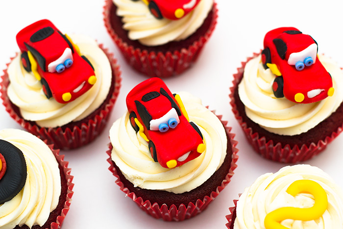 Disney Pixar Cars Lightning McQueen Cupcakes Sunday Baking