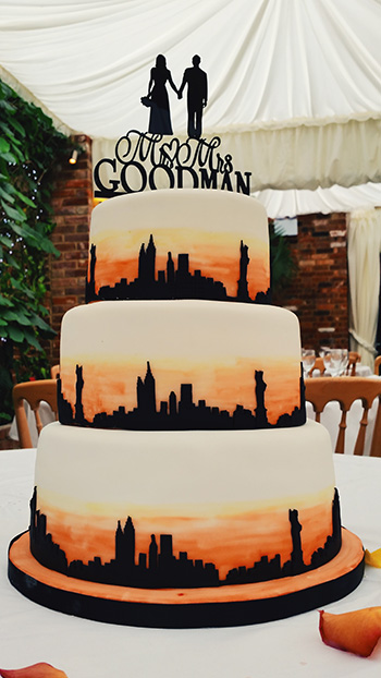 kosher wedding cakes nyc new york themed wedding cake sunday baking 16665