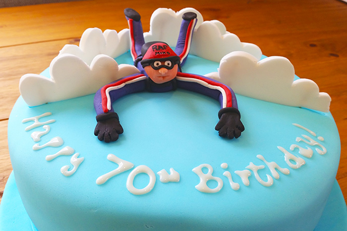 Ultimate Chocolate Cake Recipe (Sky Diving Themed Cake)