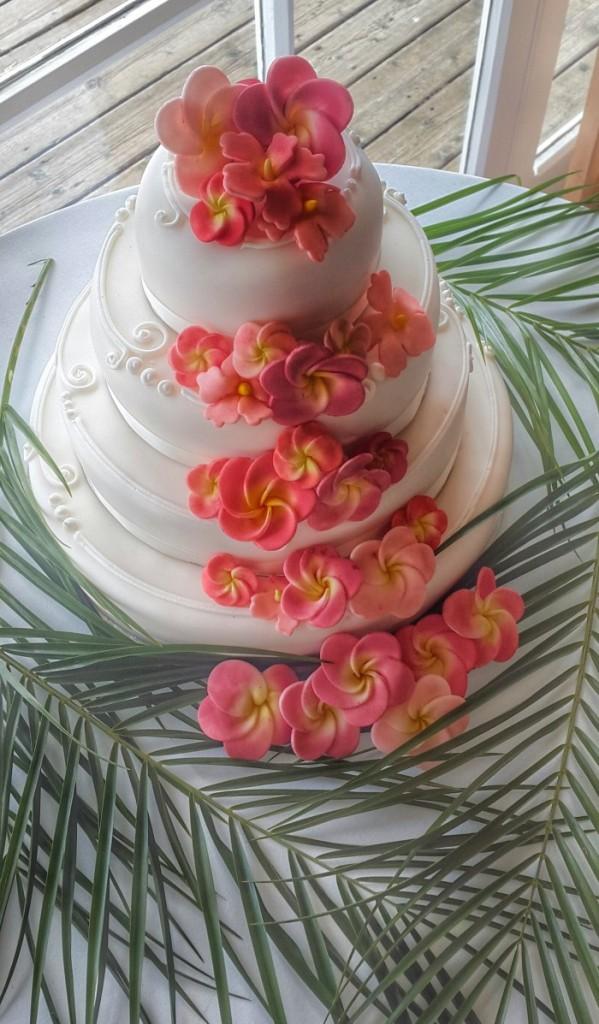Fijian style wedding cake