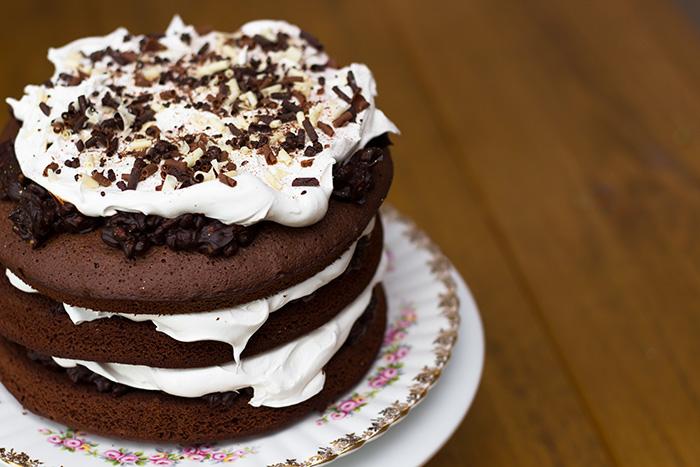 Chocolate and Rose celebration cake