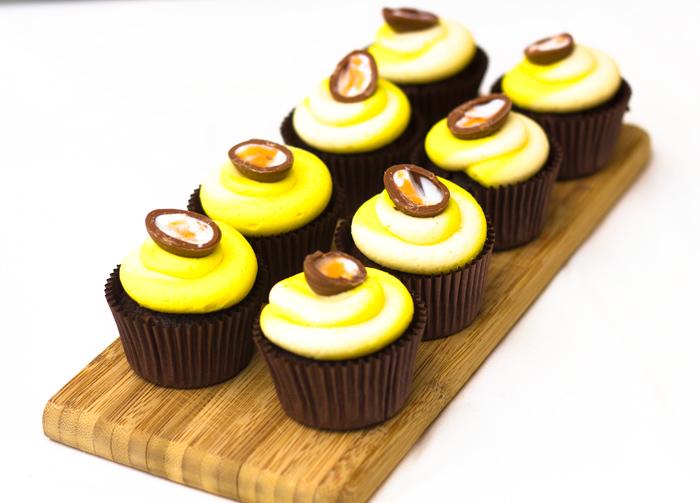Easter Cupcake Recipe – Devils Food Cake with Cadburys Creme Egg Mini