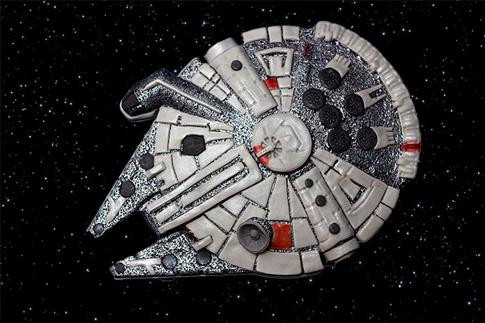 Star Wars Millennium Falcon and X-Wing Cakes