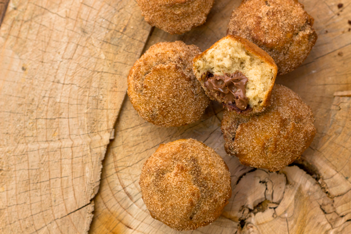Super Easy, Super Tasty Nutella stuffed Cinnamon Muffins