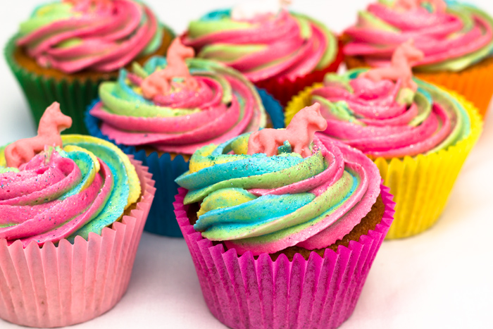 Cupcakes Recipe Uk Easy: Easy Rainbow Unicorn Cupcakes