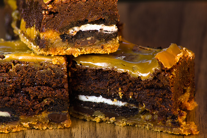 Salted Caramel Slutty Brownies