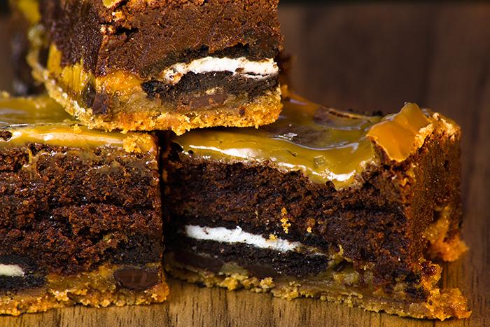 Salted Caramel Slutty Brownies