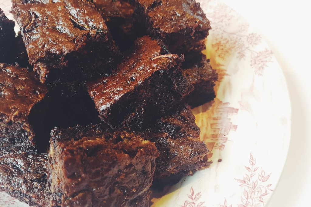 Sugar Free, Gluten Free, Chocolate and Courgette Brownies
