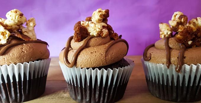 Nutella Popcorn Cupcake Recipe