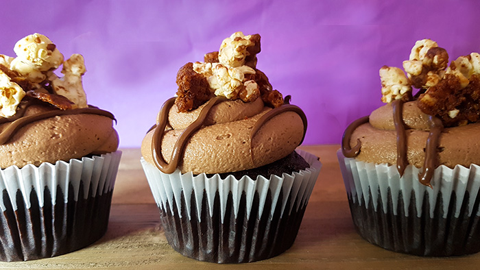 Nutella Popcorn Cupcake Recipe